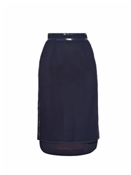 Muveil Double Layer Grid Mesh Pencil Skirt