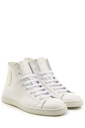 Marc Jacobs Leather High Top Sneakers White