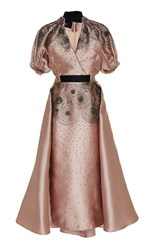 Bibhu Mohapatra Cosmic Embroidered Dress Pink