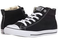 Converse Chuck Taylor All Star Street Core Canvas Mid Black Natural White Lace Up Casual Shoes