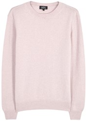 A.P.C. Ringo Light Pink Wool And Cashmere Jumper