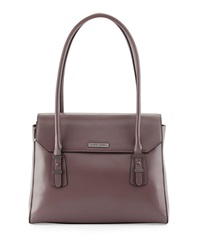 Charles Jourdan Maine Flap Top Leather Shoulder Bag Taupe