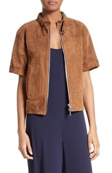 Theory Women's Short Sleeve Suede Jacket