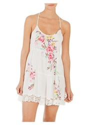 In Bloom Paradise Floral Chemise Ivory Rose