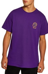 Topman On Your Mind Graphic T Shirt Purple Multi