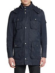 Cole Haan Hooded Cotton And Nylon Field Jacket