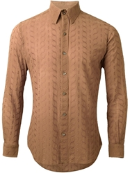 Pierre Cardin Vintage Embroidered Shirt Brown