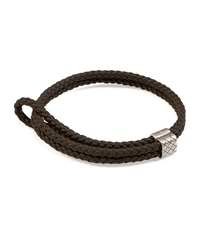 Men's Woven Leather Bracelet Bottega Veneta