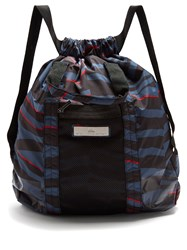 Adidas By Stella Mccartney Gym Backpack Blue Stripe
