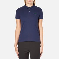 Polo Ralph Lauren Women's Skinny Fit Shirt Navy Blue
