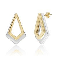 Neola Gold And Sterling Silver Earrings Serenity