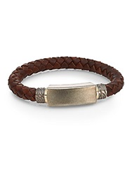 Saks Fifth Avenue Stainless Steel And Leather Cord Bracelet