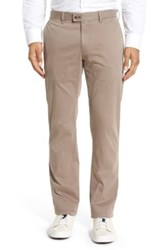 Brax 'Evans' Flat Front Chinos Gray