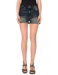 Wesc Denim Denim Shorts Women Blue