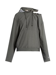 Vetements X Champion Hooded Long Sleeved Sweatshirt Grey