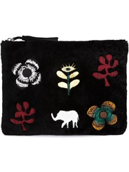 Newbark Embroidered Clutch Black
