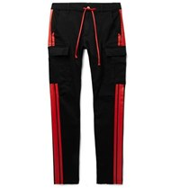 Amiri Stack Track Skinny Fit Stretch Cotton Twill Trousers Black