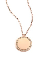 Astley Clarke Cosmos Diamond And 14K Rose Gold Medium Locket Necklace