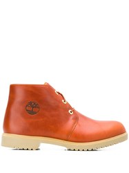 Timberland Lace Up Ankle Boots Orange