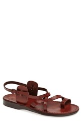 Jerusalem Sandals Men's 'The Good Shepherd' Leather Sandal Brown