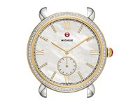 Michele 18Mm Gracile Two Tone Gold Diamond Diamond Dial
