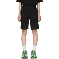 Balenciaga Black Twill Army Shorts