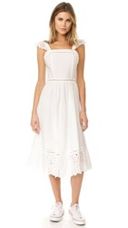 J.O.A. Embroidered Eyelet Dress White