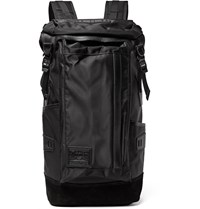 Master Piece Potential Leather And Suede Trimmed Canvas Backpack Black