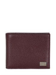 Dolce And Gabbana Dauphine Leather Wallet W Coin Pocket