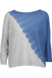 Autumn Cashmere Dip Dyed Sweater Gray