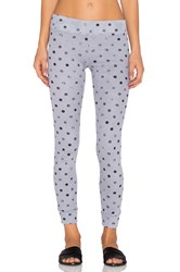 Stateside Polka Dot Thermal Legging Gray