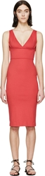 Dsquared Coral Pink Sleeveless V Dress