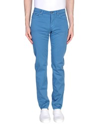 Versace Collection Casual Pants Pastel Blue