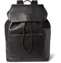 Coach Patchwork Suede And Leather Backpack Black