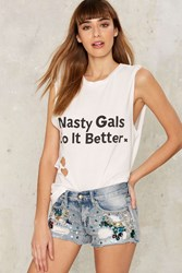 Party People Embellished Cutoffs 68983