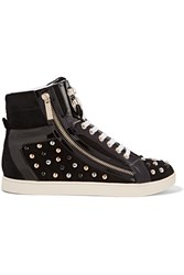 Just Cavalli Studded Suede Sneakers Black