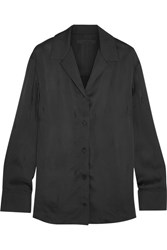 Alexander Wang Satin Shirt Black