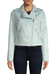 Candc California Outeredge Faux Suede Jacket Blue