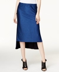 Dkny Reversible High Low Midi Skirt Classic Navy