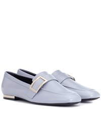 Roger Vivier Leather Loafers Grey