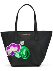 Marc Jacobs Embroidered Patch Tote Black