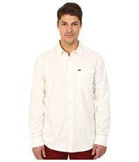 Hurley L S One Only 2.0 Woven White Men's Long Sleeve Button Up