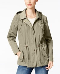 Charter Club Water Resistant Hooded Anorak Jacket Only At Macy's Sedona Dust