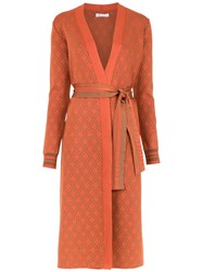 Spacenk Nk Knitted Trencho Coat Orange