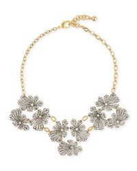 Lulu Frost Camellia Crystal Flower Necklace Gold