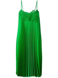 P.A.R.O.S.H. Pleated Shift Dress Green