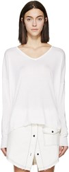 6397 Ivory Silk And Cotton Sweater