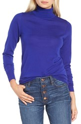 J.Crew Women's Featherweight Cashmere Turtleneck Byzantine Blue