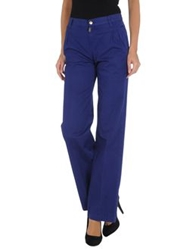 Dyed Pretty Casual Pants Blue
