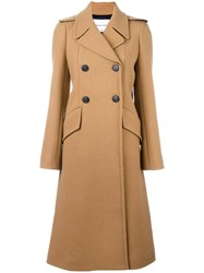 Sonia Rykiel Double Breasted Coat Nude Neutrals